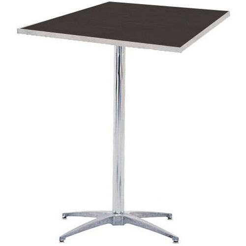 Standard Series Square Pedestal Table with Chrome Plated Steel Column and Laminate Top - 24