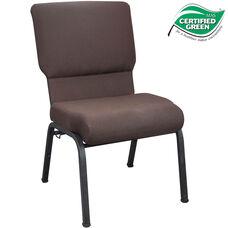 Advantage 20.5 in. Mahogany Molded Foam Church Chair