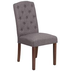 HERCULES Grove Park Series Gray Fabric Tufted Parsons Chair