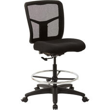 Pro-Line II ProGrid Mesh Drafting Chair with Adjustable Footring - Coal