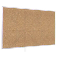 Aluminum Framed Natural Self-Healing Cork Bulletin Board - 18