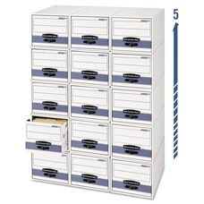 Bankers Box® STOR/DRAWER Steel Plus Storage Box - Legal - White/Blue - 6/Carton