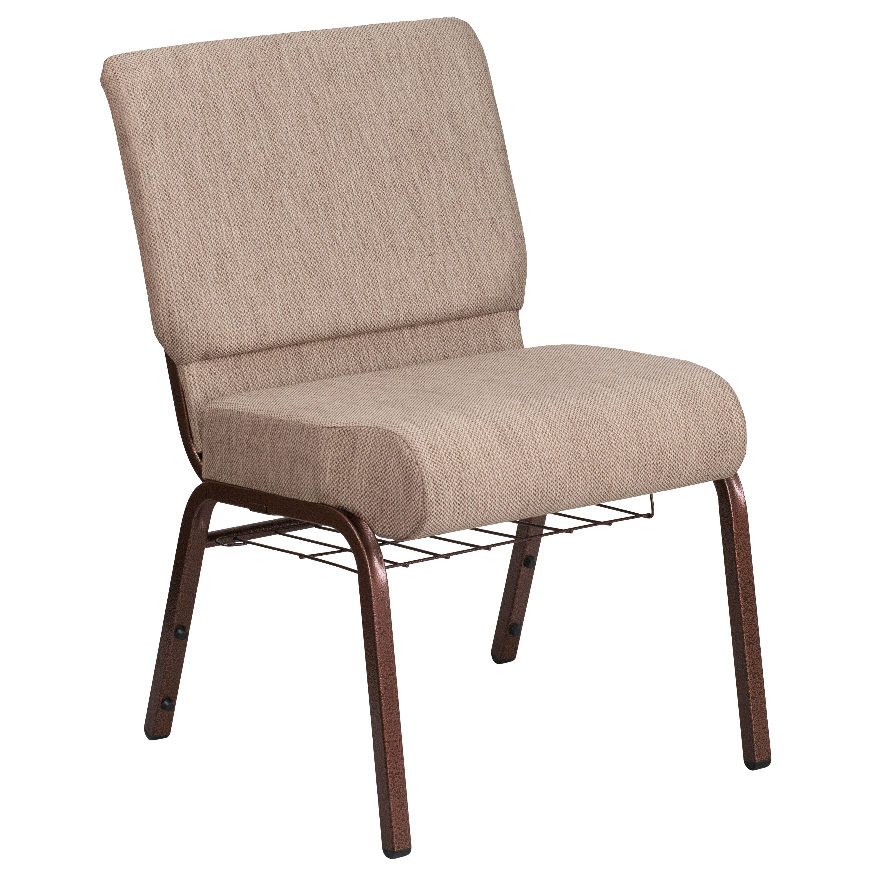 Beau Beige Fabric Church Chair FD CH0221 4 CV BGE1 BAS GG | ChurchChairs4Less.com