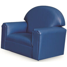 Just Like Home Toddler Size Overstuffed Vinyl Chair - Blue - 22