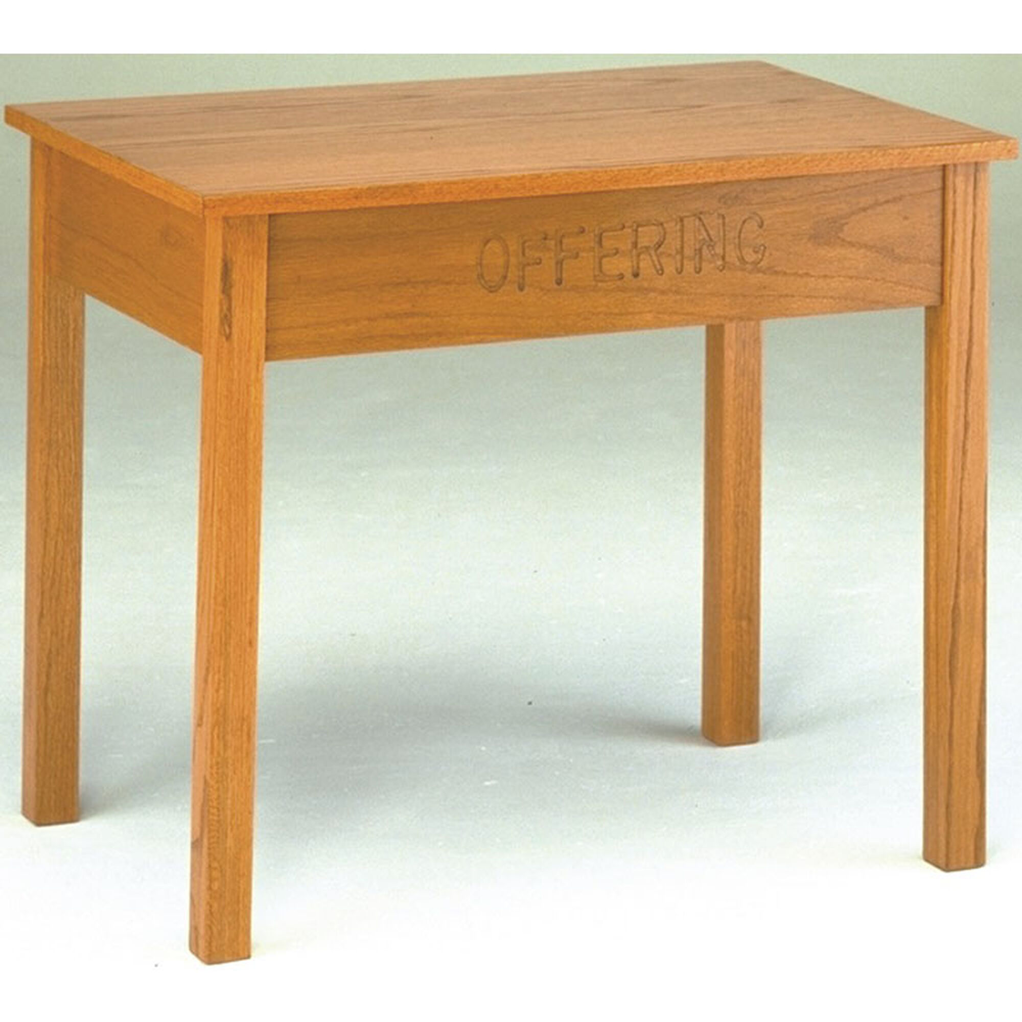 Our Stained Red Oak Offering Table with Storage Drawer is ...