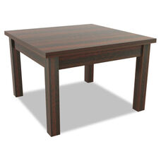 Alera® Valencia Series Rectangular Occasional Table - 23.63''W x 20''D x 20.38''H - Mahogany