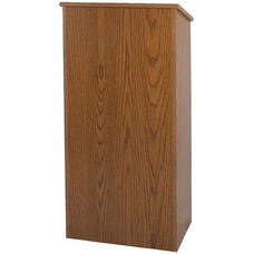 One-Piece Non-Sound Full-Height Wood Lectern - 29''W x 16''D x 46.5''H