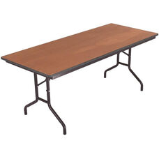 Sealed and Stained Plywood Top Table with Vinyl T - Molding Edge - 30