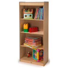 Birch Laminate Tall Bookcase with Three Adjustable Shelves