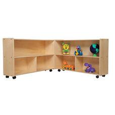 Mobile Six Shelf Folding Versatile Baltic Birch Plywood Storage Unit with Tuff-Gloss UV Finish - 93.5