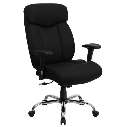 Our HERCULES Series Big & Tall 400 lb. Rated Black Fabric Executive Ergonomic Office Chair with Full Headrest and Arms is on sale now.