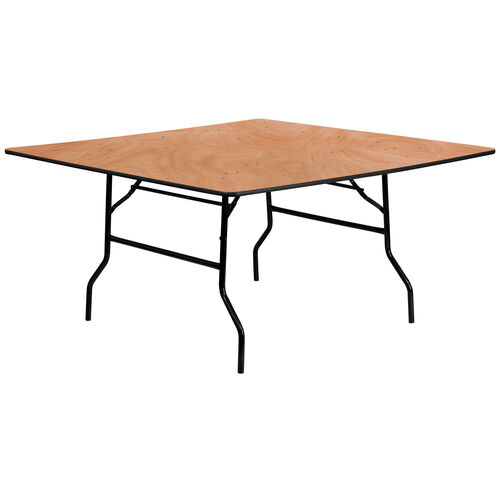 5-Foot Square Wood Folding Banquet Table