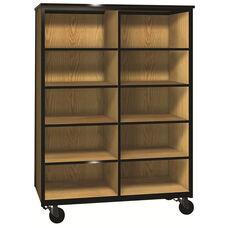 Denali 1000 Series Mobile Cubicle Storage w/ 8 Adjustable Shelves