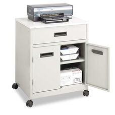 Safco® Steel Machine Stand w/Pullout Drawer - 25w x 20d x 29-3/4h - Gray