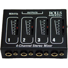 Four Input Microphone Mixer - Individual Volume Controls - 5