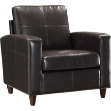 OSP Furniture Eco Leather Club Chair with Espresso Finish Legs - Espresso