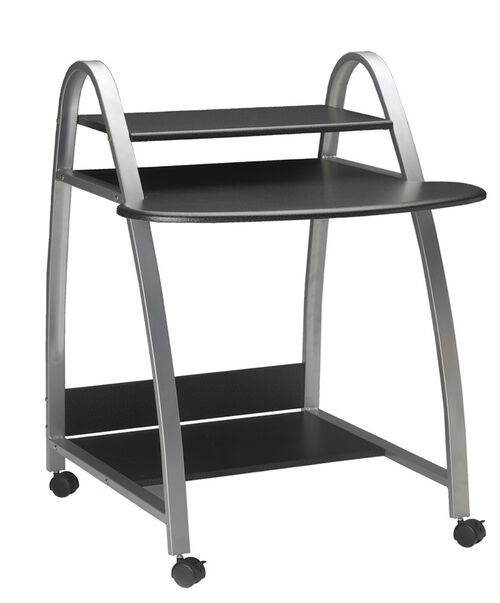 Our Mobile Arch Computer Desk with Bottom Printer Shelf - Anthracite is on sale now.
