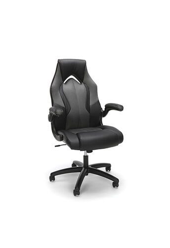 Our Essentials Racing Style Leather Gaming Chair - Gray is on sale now.