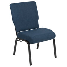 Advantage 20.5 in. Blue Basket Weave Molded Foam Church Chair