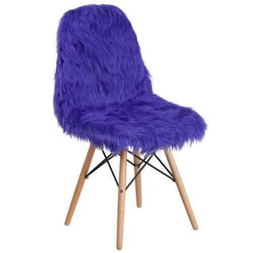 Shaggy Dog Dark Blue Accent Chair