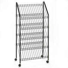 Safco® Mobile Literature Rack - 32-1/2w x 15-1/4d x 63-1/2 - Charcoal