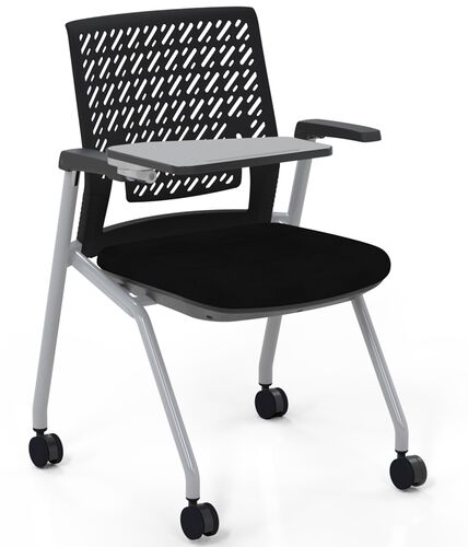 Our Thesis™ Flex Back Arm Chair with Fabric Seat and Tablet Arm - Set of 2 - Black is on sale now.