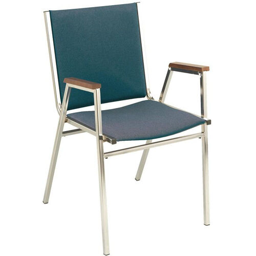 Our Quick Ship 400 Series Stacking Square Steel Frame Hospitality Armchair with Full Back and 1