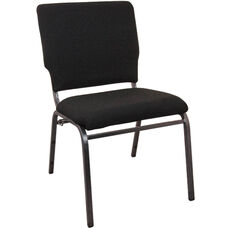Advantage Black Multipurpose Church Chairs - 18.5 in. Wide