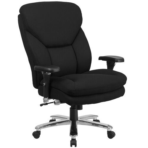 Our HERCULES Series 24/7 Intensive Use Big & Tall 400 lb. Rated Black Fabric Executive Ergonomic Office Chair with Lumbar Knob is on sale now.