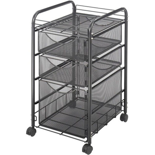 Our Onyx™ Mesh File Cart with One File Drawer and Two Small Drawers - Black is on sale now.