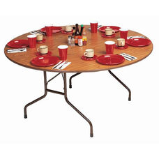 Standard Fixed Height Solid Plywood Core Round Folding Table - 60