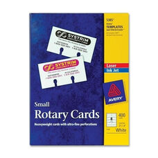 Avery Laser/Inkjet Rotary Cards - 2 1/8'' x 4'' - 400/Box - White