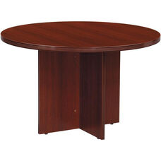 OSP Furniture Napa Round Conference Table - Mahogany