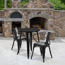 Black Galvanized Steel with Black Powder Coat finish