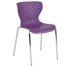 Lowell Contemporary Design Purple Plastic Stack Chair
