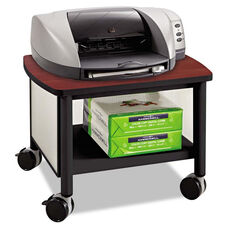 Safco® Impromptu Under Table Printer Stand - 20-1/2w x 16-1/2d x 14-1/2h - Black/Cherry