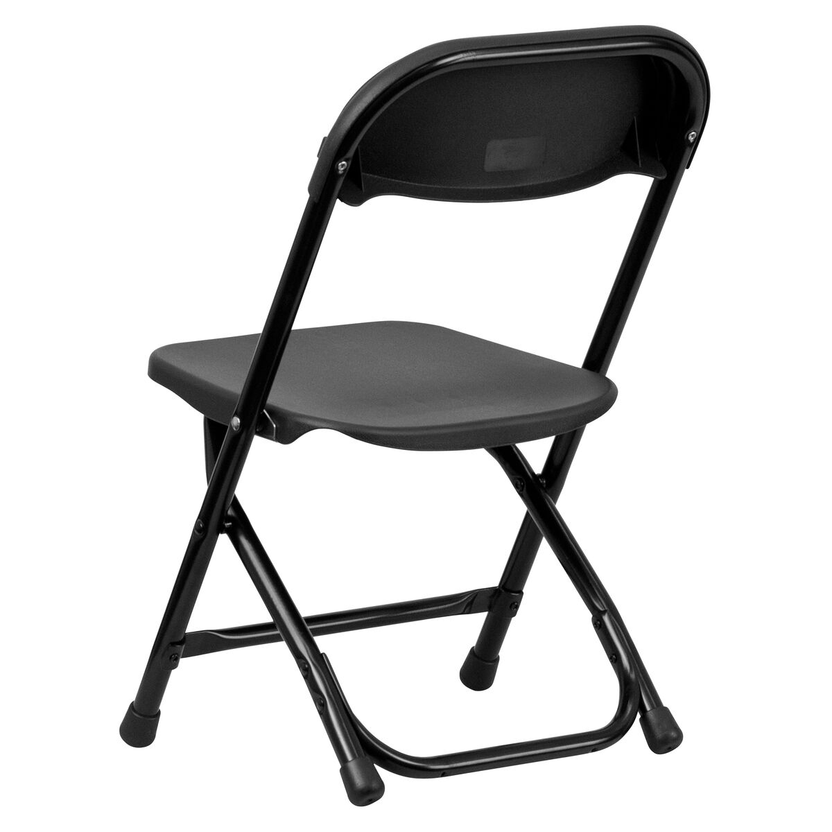 Kids Black Plastic Folding Chair - Inset 2