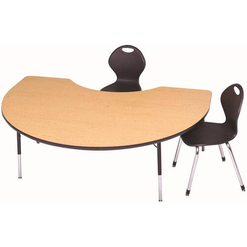Our Laminate Top Adjustable Height Kidney Activity Table with Particleboard Core - 48
