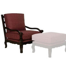 1766 Lounge Chair w/ Loose Cushion & Tie - Grade 1