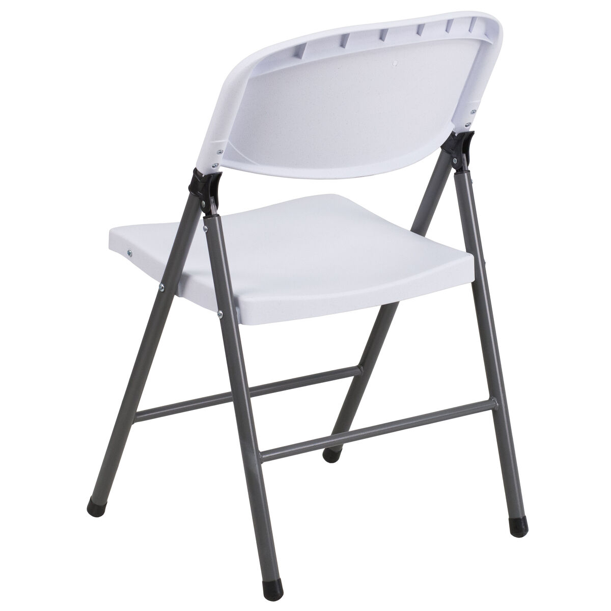 Magnificent Hercules Series 330 Lb Capacity Granite White Plastic Folding Chair With Charcoal Frame Uwap Interior Chair Design Uwaporg