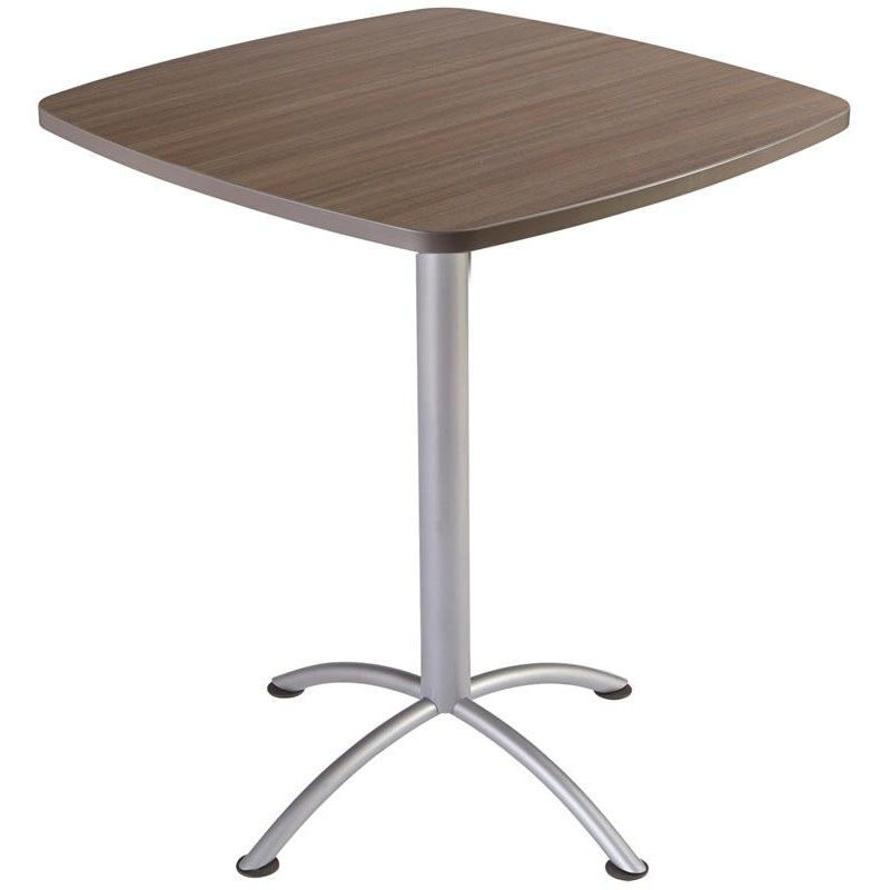 ... Our ILand 36u0027u0027 Square Steel Frame 42u0027u0027H Conference Table With Edgeband