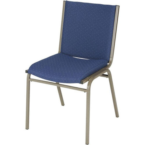 Our 400 Series Stacking Square Steel Frame Armless Guest Chair with Full Back and 3
