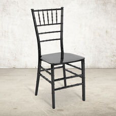 "HERCULES Series Black Resin Stacking Chiavari Chair with <span style=""color:#0000CD;"">Free </span> Cushion"