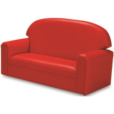 Just Like Home Toddler Size Overstuffed Vinyl Sofa - Red - 34
