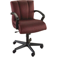 Quick Ship Trifecta Management Swivel Chair with Black Urethane Arms