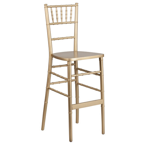 """Our HERCULES Series Gold Wood Chiavari Barstool with <span style=""""color:#0000CD;"""">Free </span> Cushion is on sale now."""