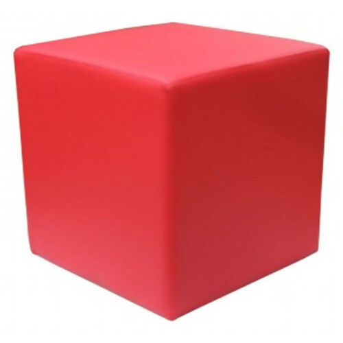 Our Zurich Indoor Faux Leather Cube Side Table - Red is on sale now.