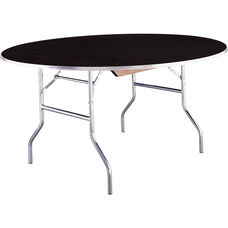 Standard Series 72'' Round Folding Banquet Table with Laminate Top