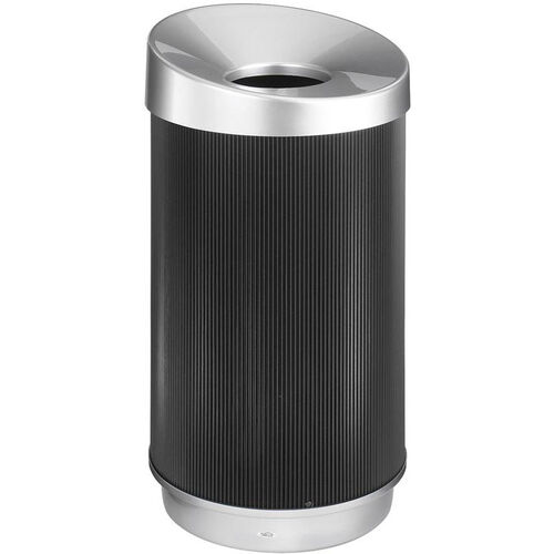 Our At-Your-Disposal® Vertex 38 Gallon Waste Receptacle with Concave Opening - Black and Chrome is on sale now.