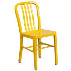 Commercial Grade Yellow Metal Indoor-Outdoor Chair